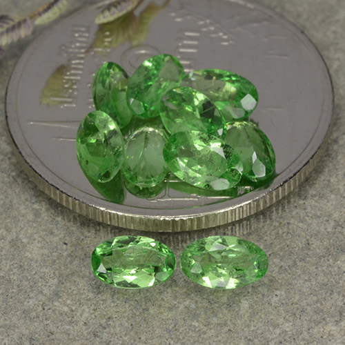0.2ct Oval Facet Green Tsavorite Garnet Gem (ID: 482348)