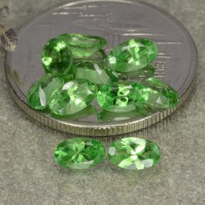 0.3ct Oval Facet Lively Green Tsavorite Garnet Gem (ID: 482351)