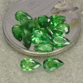 0.2ct Poire facette Medium Green Grenat Tsavorite gemme (ID: 482353)