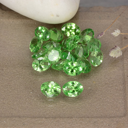 0.2ct Oval Facet Medium Green Tsavorite Garnet Gem (ID: 482553)