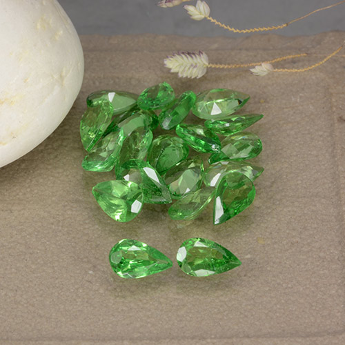 0.2ct Poire facette Medium Green Grenat Tsavorite gemme (ID: 482559)