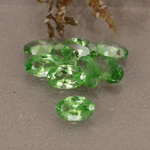 0.3ct Oval Facet Lively Green Tsavorite Garnet Gem (ID: 484880)