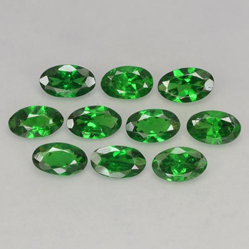 0.2ct Oval Facet Bright Forest Green Tsavorite Garnet Gem (ID: 484881)