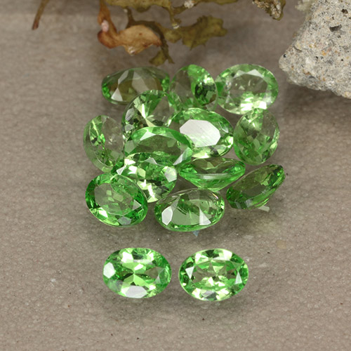 0.2ct Oval Facet Lively Green Tsavorite Garnet Gem (ID: 484888)