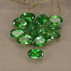 0.2ct Oval Facet Bright Green Tsavorite Garnet Gem (ID: 489752)