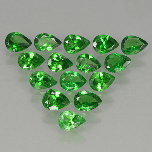 0.2ct Poire facette Medium Green Grenat Tsavorite gemme (ID: 503059)