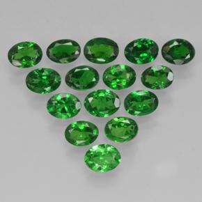 Green Tsavorite Garnet Gem - 0.2ct Oval Facet (ID: 503061)