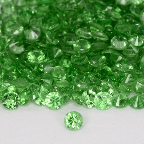 Green Tsavorite Garnet Gem - 0ct Diamond-Cut (ID: 509603)