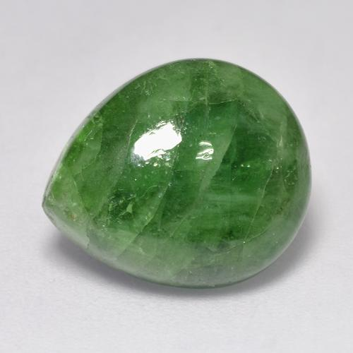 9.22 ct Pear Cabochon Green Tsavorite Garnet Gemstone 14.21 mm x 12 mm (Product ID: 521331)
