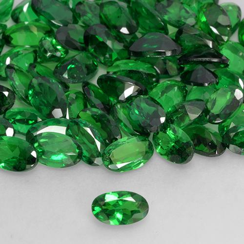 0.2ct Oval Facet Medium Green Tsavorite Garnet Gem (ID: 527374)