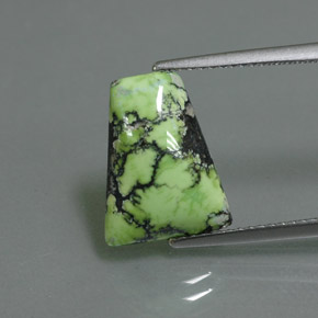 3.45 ct Trapezoid Cabochon Yellow Green Turquoise Gemstone 13.83 mm x 10.7 mm (Product ID: 347610)