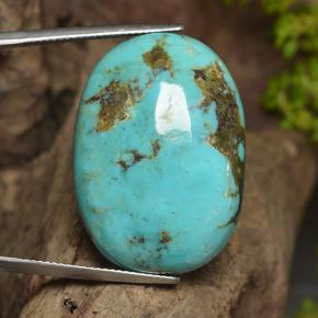 thumb image of 34.4ct Oval Cabochon Blue Turquoise (ID: 497023)