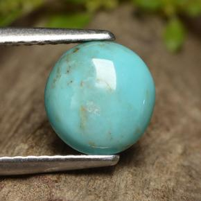 thumb image of 0.9ct Round Cabochon Blue Turquoise (ID: 497149)
