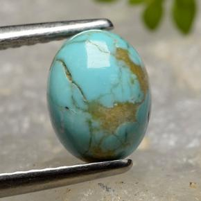 thumb image of 1.2ct Oval Cabochon Blue Turquoise (ID: 497212)