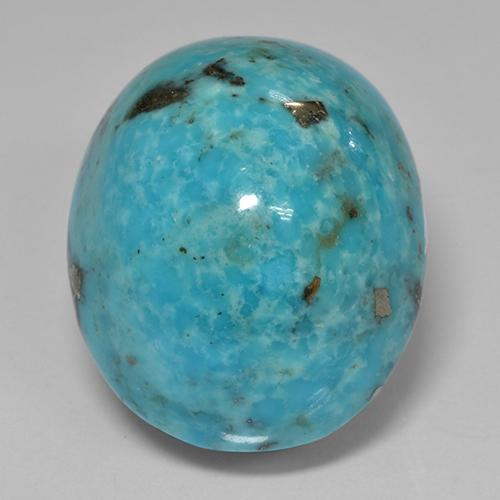 Blue Turquoise Gem - 32.6ct Oval Cabochon (ID: 499769)
