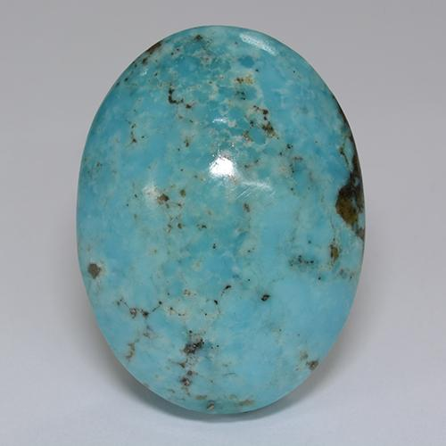 Blue Turquoise Gem - 45.4ct Oval Cabochon (ID: 499797)