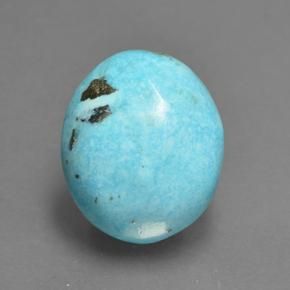 Blue Turquoise Gem - 9ct Oval Cabochon (ID: 501394)