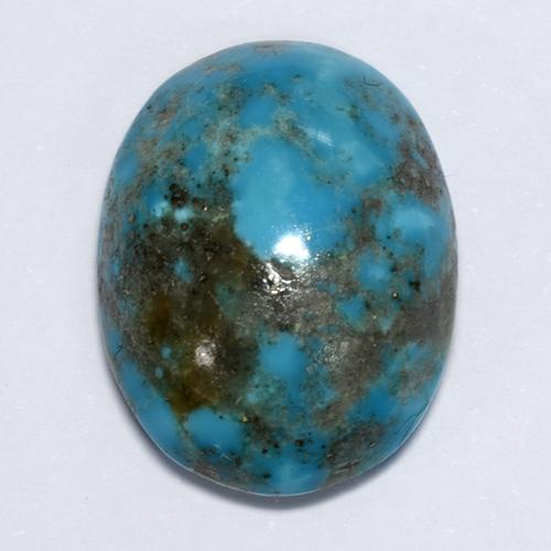Blue Turquoise Gem - 15.4ct Oval Cabochon (ID: 511763)