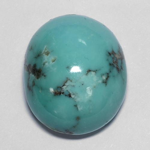 Bluish Green Turquoise Gem - 23.2ct Oval Cabochon (ID: 511766)