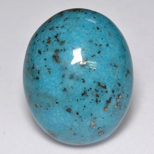 Blue Turquoise Gem - 23.8ct Oval Cabochon (ID: 516979)