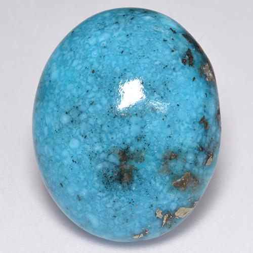 Blue Turquoise Gem - 26.5ct Oval Cabochon (ID: 516990)