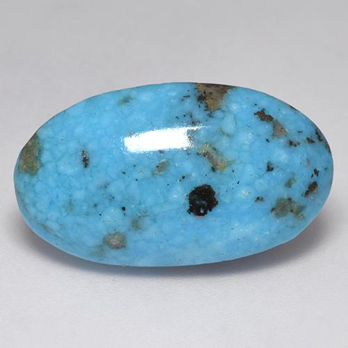 Blue Turquoise Gem - 17ct Oval Cabochon (ID: 526098)