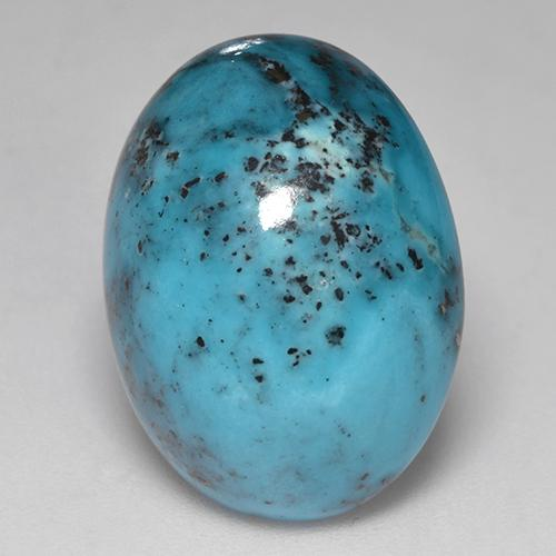 Blue Turquoise Gem - 16.9ct Oval Cabochon (ID: 526118)