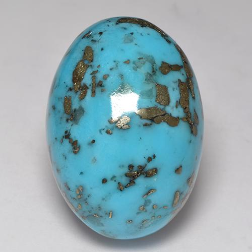 Blue Turquoise Gem - 55ct Oval Cabochon (ID: 529181)