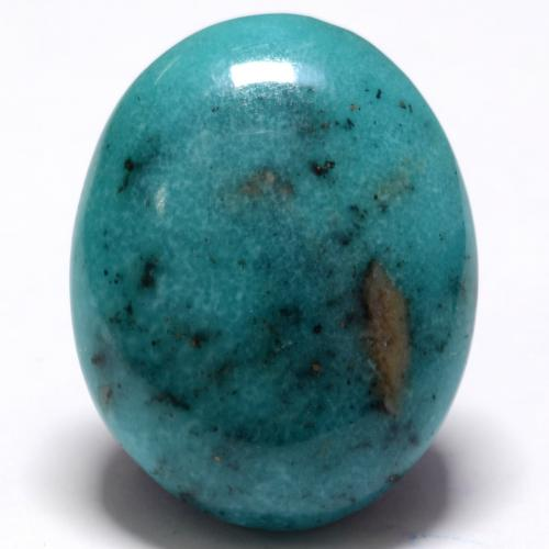 Greenish Blue Turquoise Gem - 19.4ct Oval Cabochon (ID: 536725)