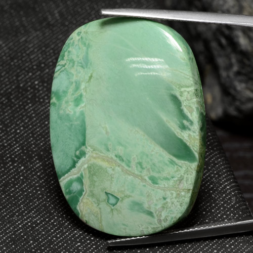 Green Variscite Gem - 41.6ct Cushion Cabochon (ID: 469322)