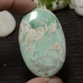 56.6ct Oval Cabochon Green Variscite Gem (ID: 471108)