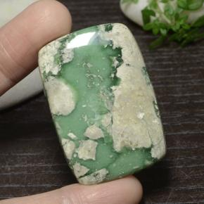 Green Variscite Gem - 51.9ct Cushion Cabochon (ID: 471111)