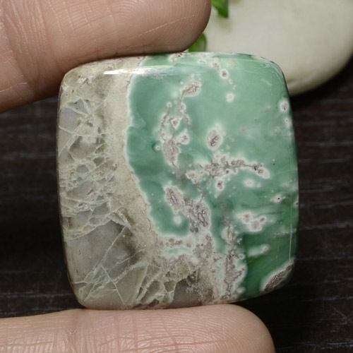 Green Variscite Gem - 53.7ct Cushion Cabochon (ID: 471113)