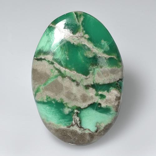 54.8ct Oval Cabochon Green Variscite Gem (ID: 471115)