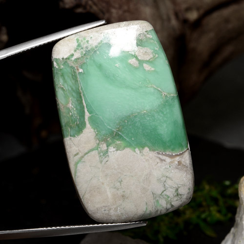 46.7ct Cushion Cabochon Green Variscite Gem (ID: 471261)