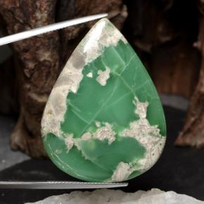 40.4ct Pear Cabochon Green Variscite Gem (ID: 471263)