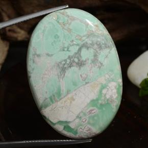 43.2ct Oval Cabochon Green Variscite Gem (ID: 472205)