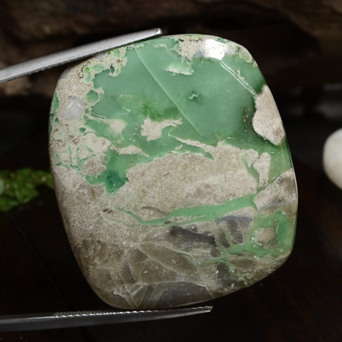 51.5ct Cushion Cabochon Green Variscite Gem (ID: 472206)