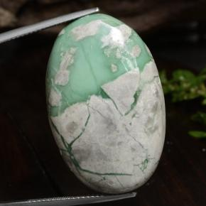 37.5ct Oval Cabochon Green Variscite Gem (ID: 472207)