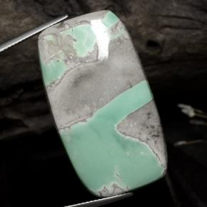 Green Variscite Gem - 41.8ct Cushion Cabochon (ID: 472570)