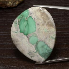 44.5ct Fancy Cabochon Green Variscite Gem (ID: 475087)
