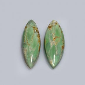 Green Variscite Gem - 6ct Marquise Cabochon (ID: 505119)
