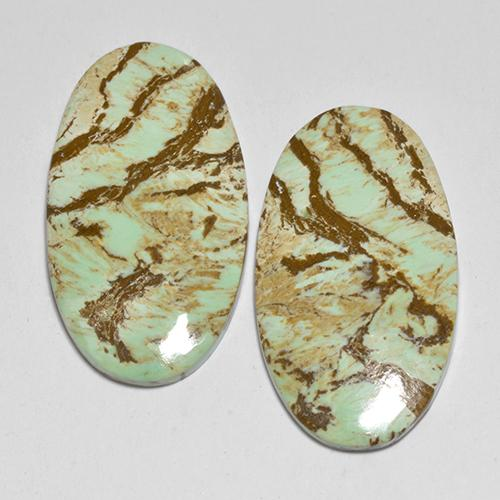 Green Variscite Gem - 6.8ct Oval Cabochon (ID: 512377)