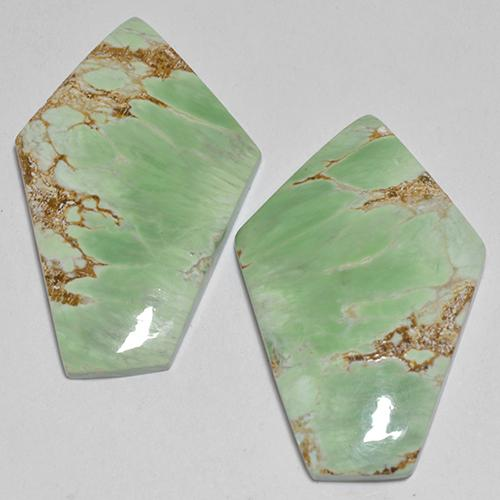 Green Variscite Gem - 7.2ct Fancy Cabochon (ID: 512379)