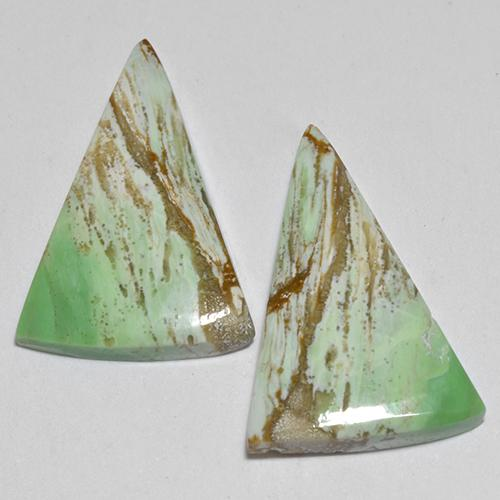 Green Variscite Gem - 4.1ct Trillion Cabochon (ID: 512384)