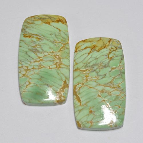 Green Variscite Gem - 6.4ct Cushion Cabochon (ID: 512394)