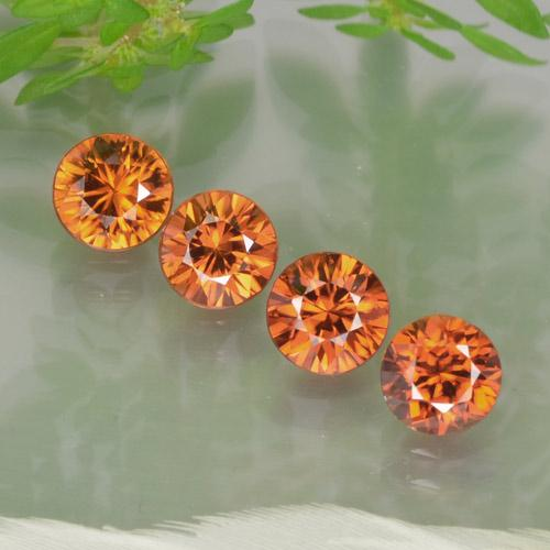 1ct Diamond-Cut Deep Orange Zircon Gem (ID: 252532)