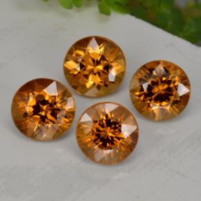 1.1ct Diamond-Cut Medium-Dark Orange Zircon Gem (ID: 256157)