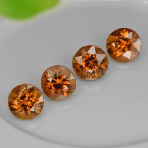 Golden Orange Zircon Gem - 1.1ct Round Facet (ID: 261091)