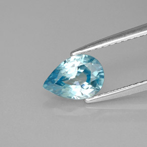 Buy 1.39ct Blue Zircon 7.85mm x 5.57mm from GemSelect (Product ID: 284743)